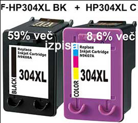 Kartuše Fenix C-HP304XL črna + barvna